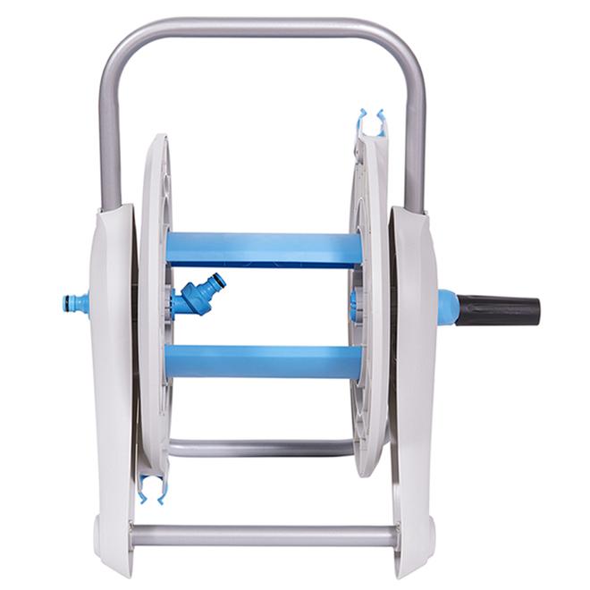 Deck Hose Reel - 125' - Plastic/Aluminum - Light Grey