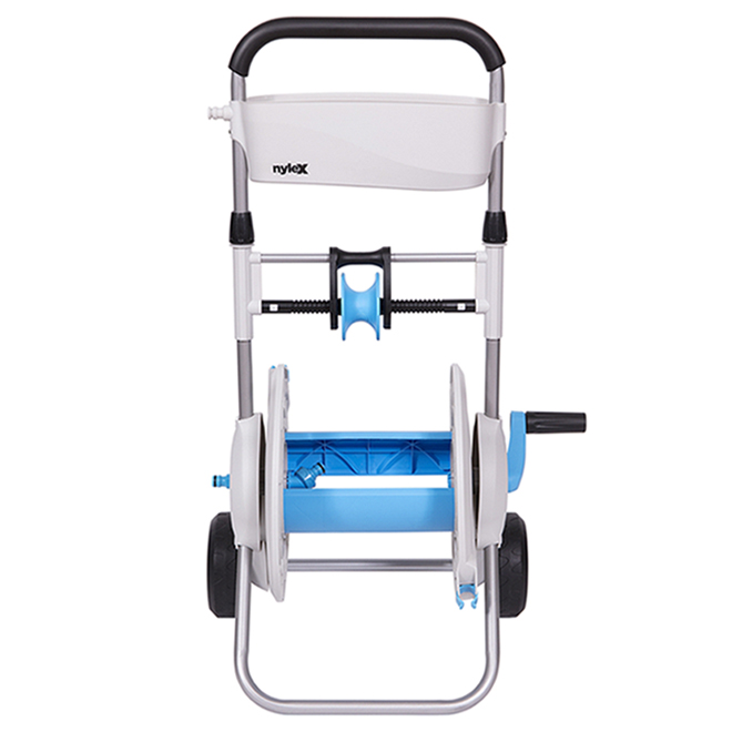Cart Hose Reel - 160' - Plastic/Aluminum - Grey