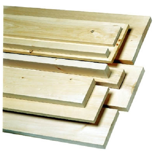 Knotty White Pine Board 1 in x 6 in x 6 ft