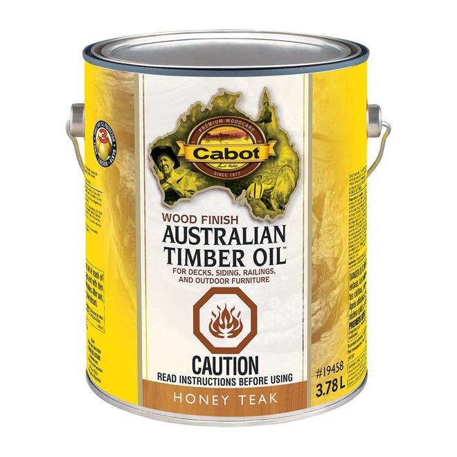 Cabot Wood Finish - Transparent - Honey Teak - 3.78 L