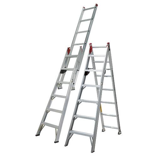 Eagle - Multi-Way Ladder - Combined T2 - Aluminum - 7-ft - 11-ft