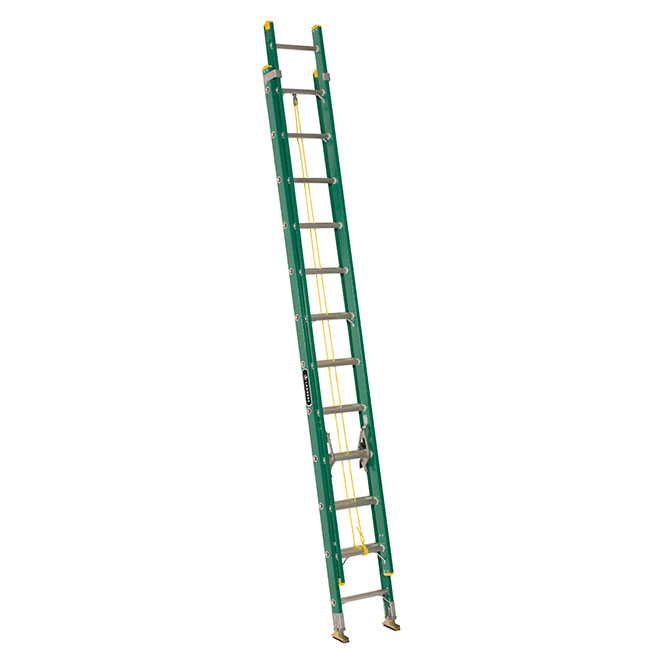 Eagle - Extension Ladder - Type 2 - Fiberglass - 17-in  x 24-ft x 6-in - Green
