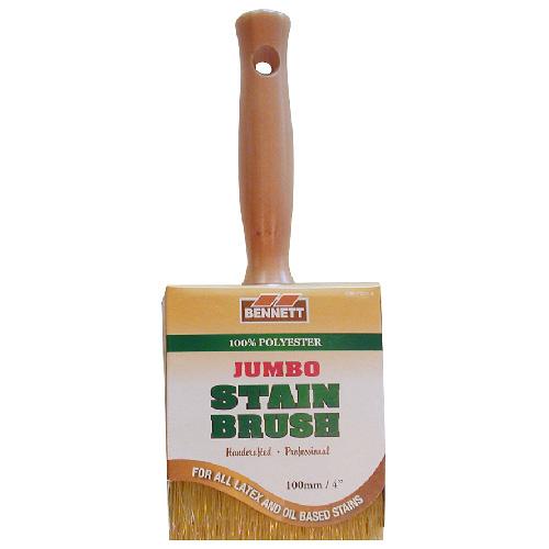 "Jumbo Stain Brush - Synthetic Bristles - 4"""