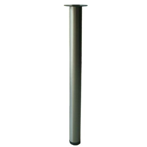 Patte de table, 27,56'', acier brossé