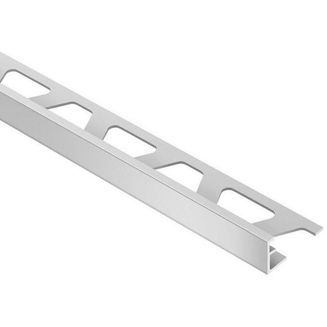 """Tile Edge Trim - 1/2"""" - Aluminum - Satin Silver"""