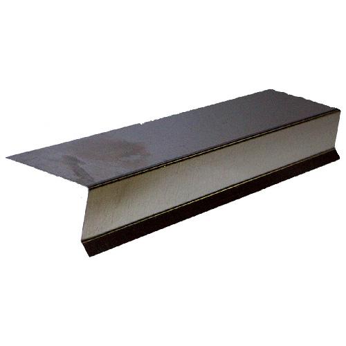 Solin pour terrasse en métal galvanisé, 60 po