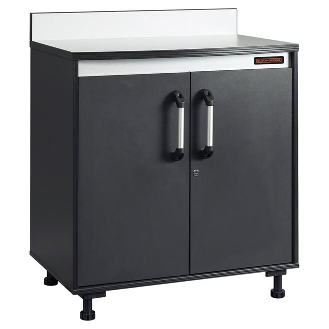 Cabinet à 2 portes avec surface de travail