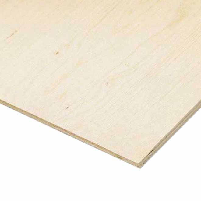 1/2x4x4 - Sanded Fir Plywood Panel - G1S