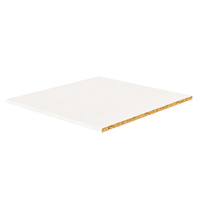 "Melamine Shelf - White - 5/8"" x 16"" x 22.50"""