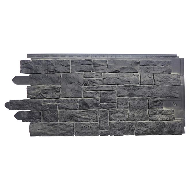 Panneau de pierres empilées en polymère, onyx