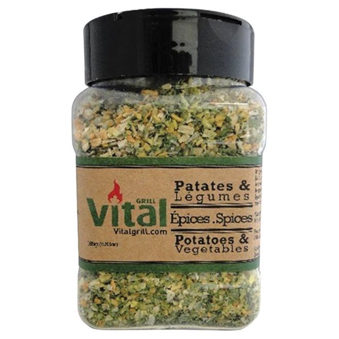 Mélange d'épices pour pommes de terre/légumes, 185 g