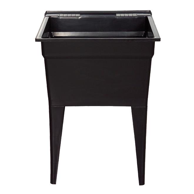 "Technoform Laundry Tub - 24"" x 22"" x 32.5"" - Polypropylene - Black"