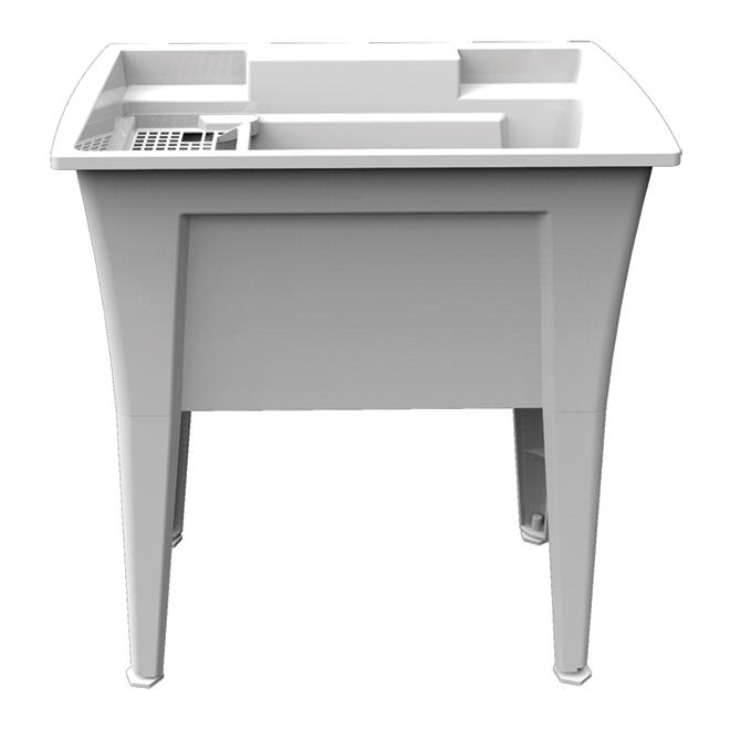 """Technoform Laundry Tub - 32.25'' x 22'' x 34.25"""" - 97 L - Polypropylene - White"""