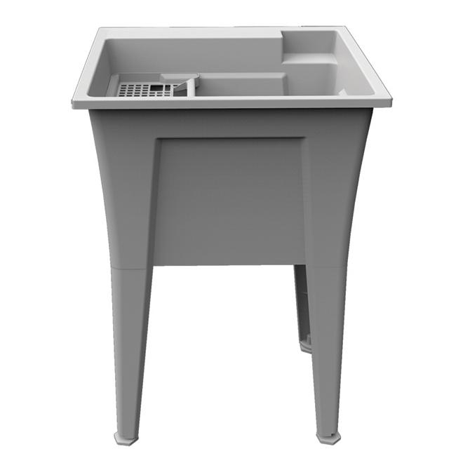 Technoform Laundry Tub - Polypropylene - 24 x 22 x 34.25-in - Granite