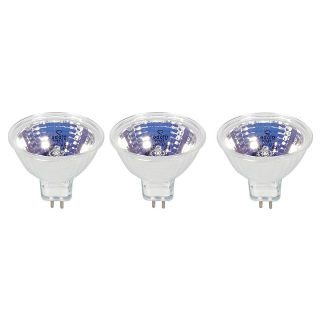 Ampoule quartz-halogène MR16 35 watts, paquet de 3