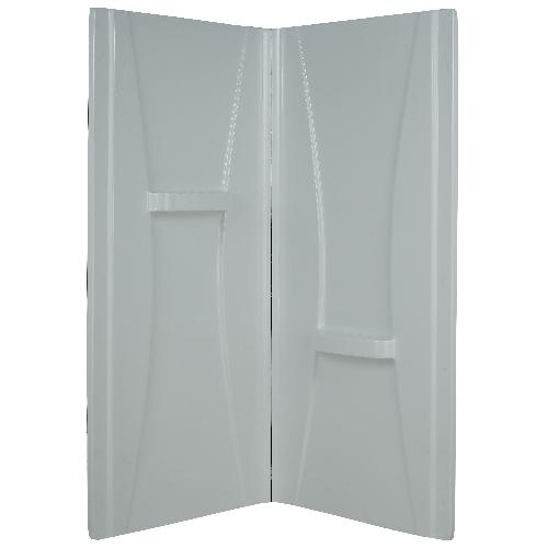 Uberhaus Boya Shower Wall - 38-in - Acrylic - White