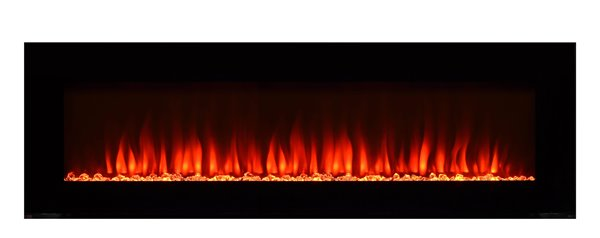 Paramount Premium Slim 20 In X 60 In Wall Mount Electric Fireplace