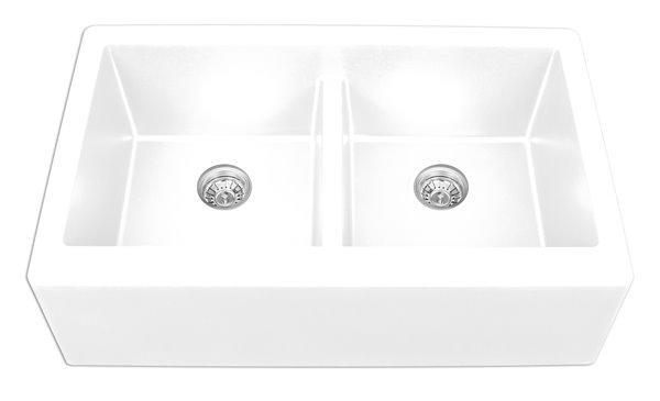 Double A Front Kitchen Sink 34 Quartz White