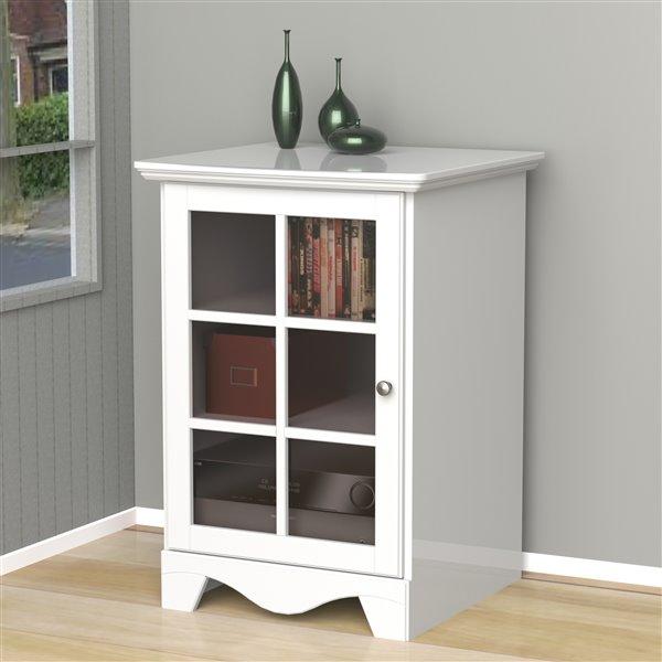 Cabinet audio Pinnacle, 1 porte, blanc