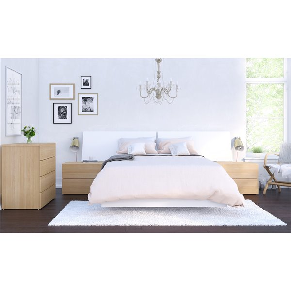 130286be89e3 Nexera Full Size Platform Bed - White. Article 330000278. Model  345403