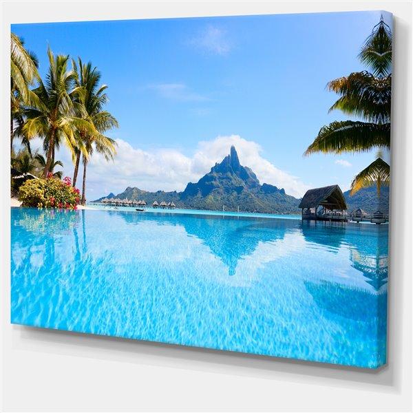 Designart Canada Bora Bora 40-in x 30-in Canvas Print Wall Art