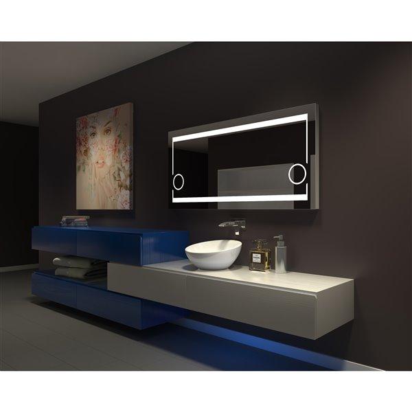 Paris Mirror Aurora 60-in x 28-in 6000K llluminated Mirror