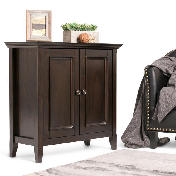 SIMPLI HOME Petite armoire de rangement Amherst, marron foncé AXCAMH-004 | Réno-Dépôt