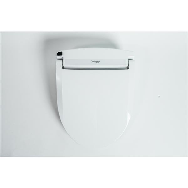 Strange Clean Touch White Round Electronic Bidet Toilet Seat Dailytribune Chair Design For Home Dailytribuneorg