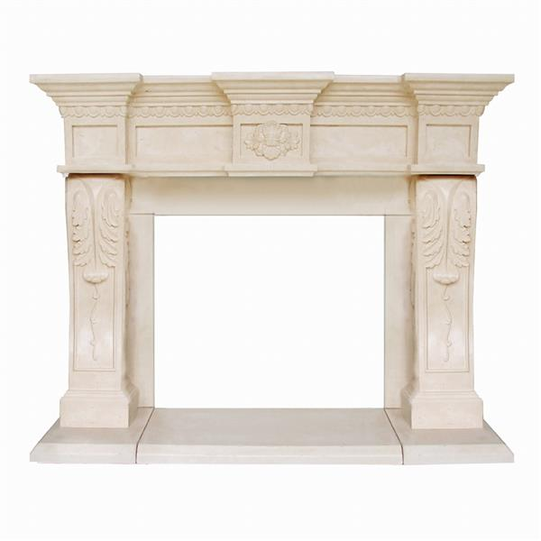 Historic Mantels Limited President Oxford Fireplace Mantel Ivory