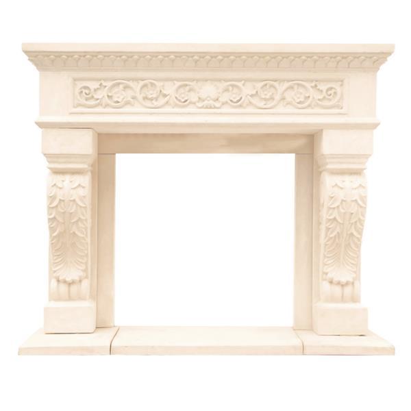 Historic Mantels Limited Chateau King Henry Fireplace Mantel Ivory