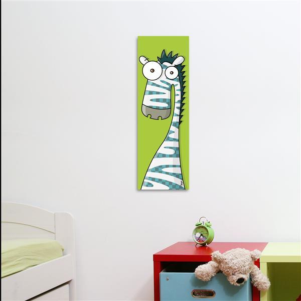 ADzif Zebra Art for Kids Canvas Wall Art 8-in x 24-in