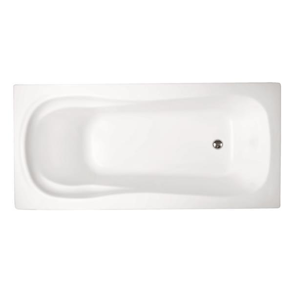 "Bain podium Boston de Jade Bath, blanc, 60"""