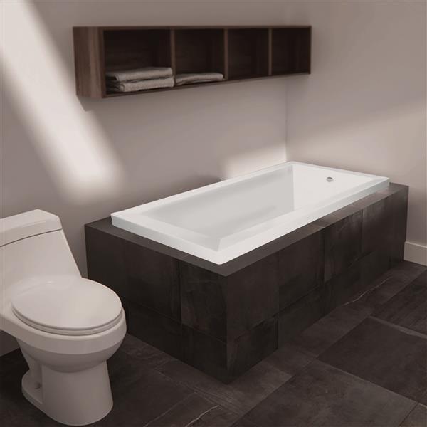 "Bain podium Moderno de Jade Bath, blanc, 60"""