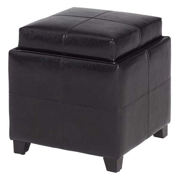Enjoyable Worldwide Home Furnishings Storage Cube Brown With Reversible Tray Uwap Interior Chair Design Uwaporg