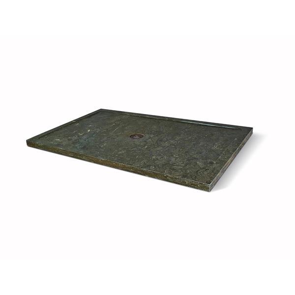 Unik Stone Molded Stone 36 In X 60 In Limestone Shower