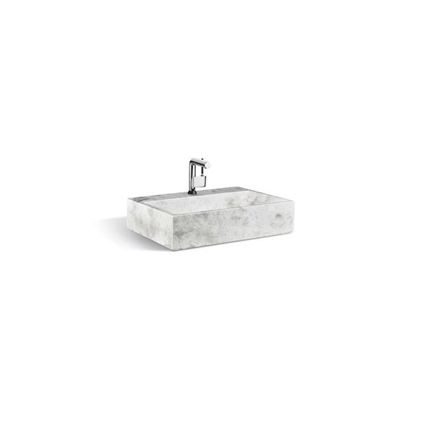 "Unik Stone Sink - Ice Marble - 24"""