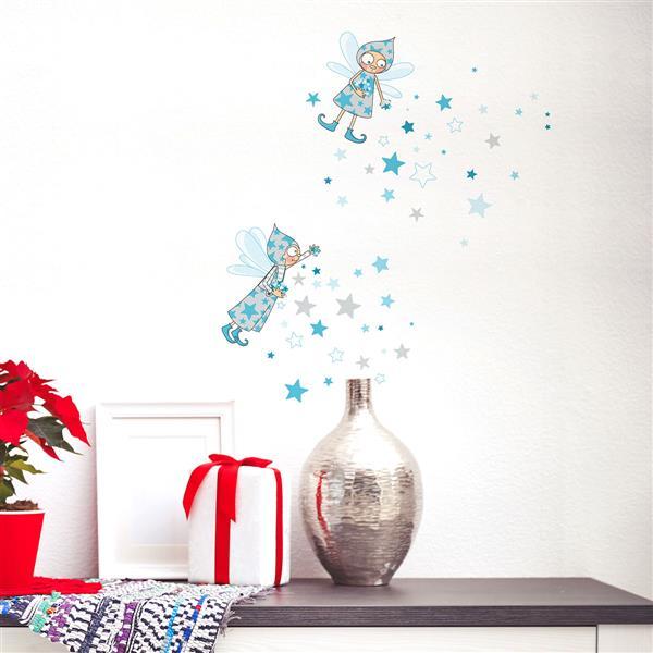 Ajv5 Adzif Appliqué De 6' Mural NoëlElfes Nl106 1' Bleus3 X 2 kXwlOiZuPT