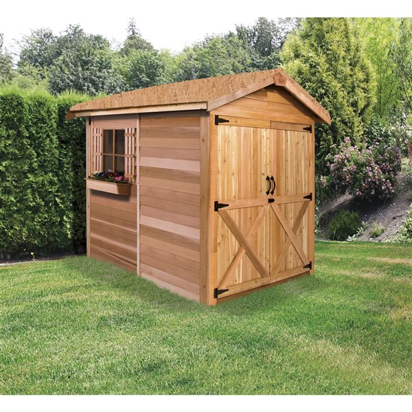 Cedarshed Rancher 6-ft x 12-ft Cedar Storage Shed
