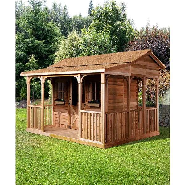 Cedarshed CookHouse 12-ft x 10-ft Cedar Storage Shed