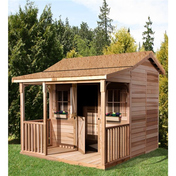 Cedarshed BunkHouse 12-ft x 14-ft Cedar Storage Shed