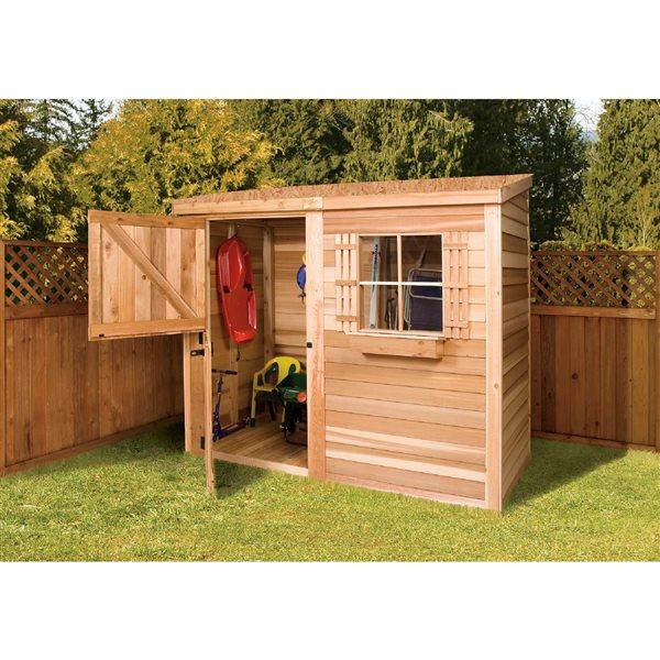 Cedarshed Bayside 8-ft x 3-ft Cedar Storage Shed