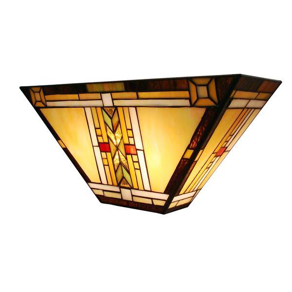 Fine art lighting ltd applique murale à ampoules style tiffany