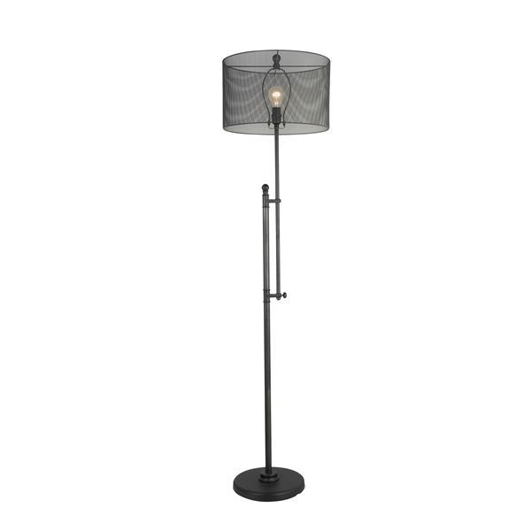 P.W. Design Vogue 66-in Black Floor Lamp