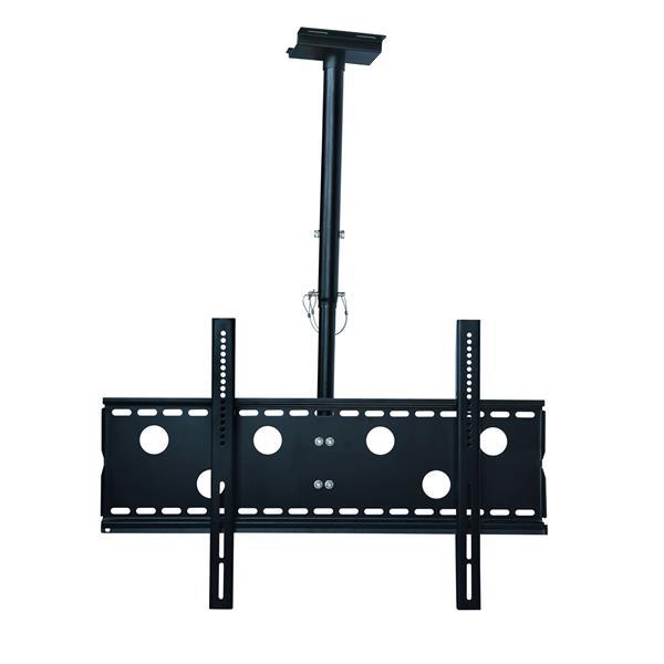 """Support de plafond TygerClaw, 32"""" à 63"""", acier, noir"""