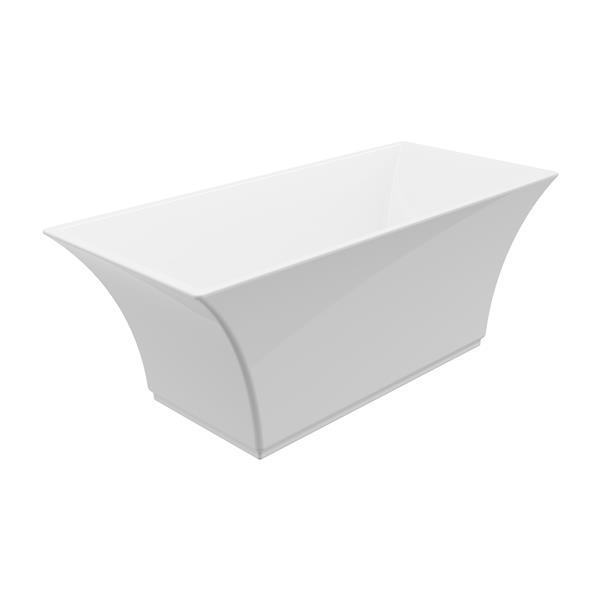 A&E Bath & Shower Abzu-NF Freestanding Bathtub - 67-in - White