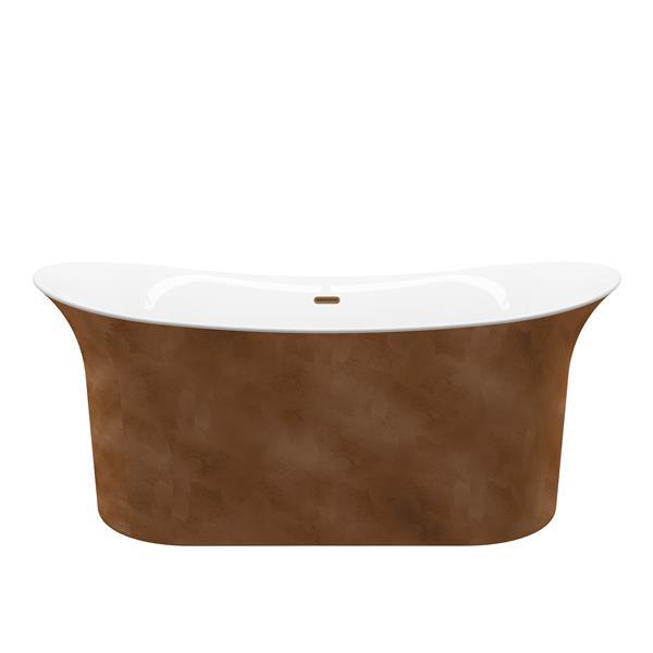 Baignoire autoportante A&E Bath & Shower, 66 po, cuivre