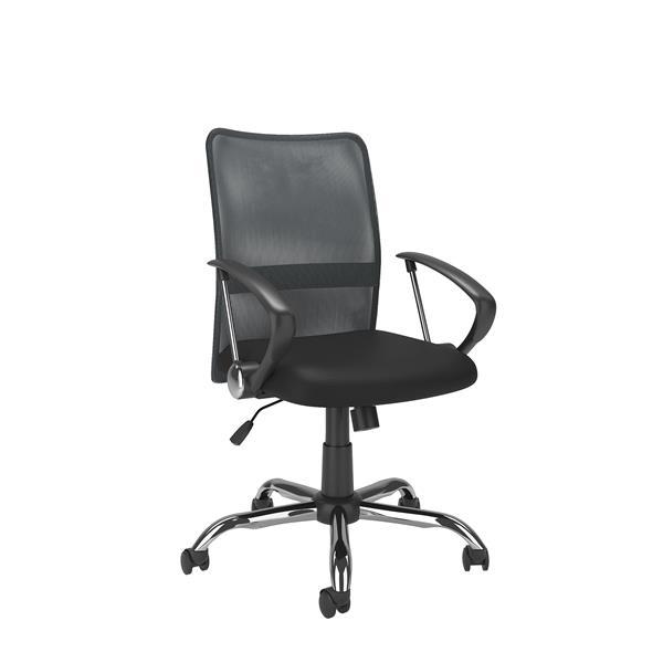 Chaise de bureau avec dossier profilé en mailles, gris
