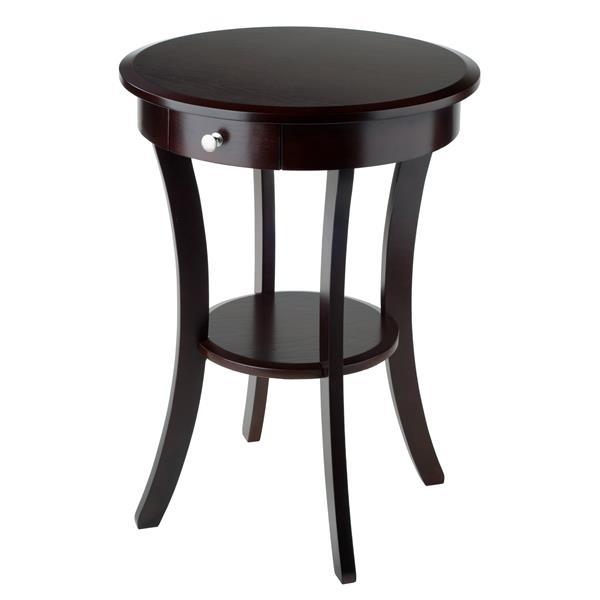 """Table Sasha, 20"""" x 27"""", bois, cappuccino"""