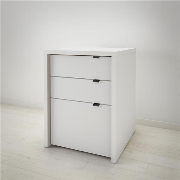 Nexera Chrono White 3-Drawer Filing Cabinet