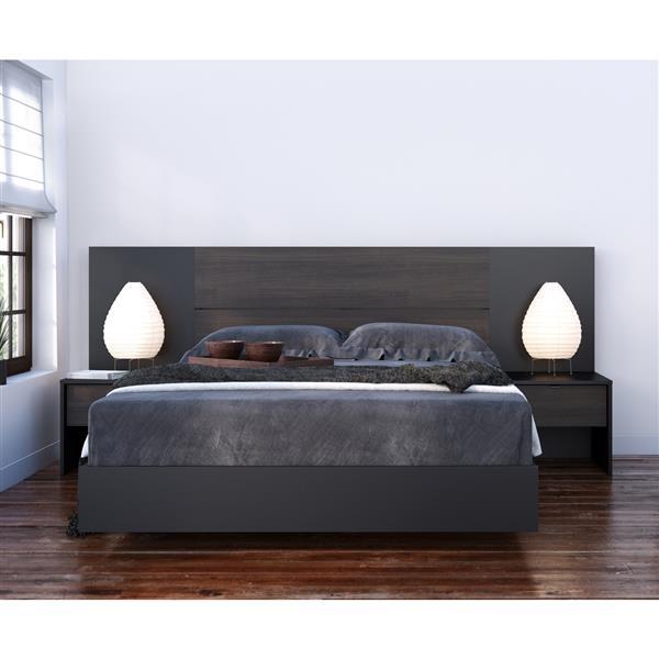 Ens. de chambre à coucher Opaci-T double, 5 mcx, noir